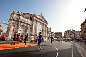 pavimento campo da basket