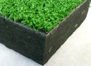 spessore gomma antitrauma ed erba